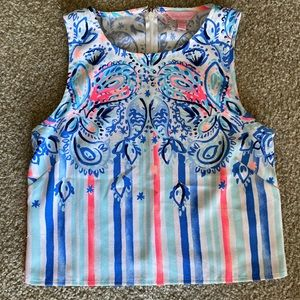 Lily Pulitzer two piece romper